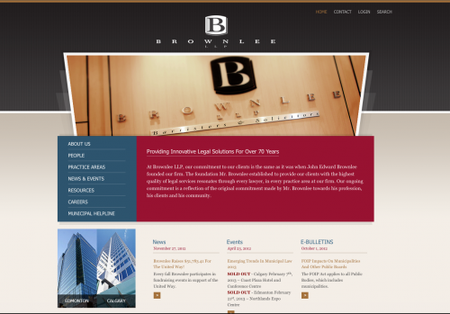 Brownlee LLP Home Page Screenshot