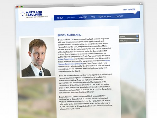 Website Martland Saulnier - Lawyer's page (maximum width)