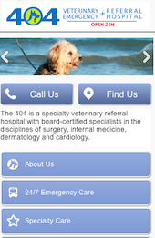 404 Veterinary Emergency and Referral Hospital Home Page