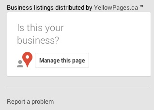 Google option Is this your business?