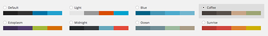 WordPress 3.8 Admin Colour Schemes