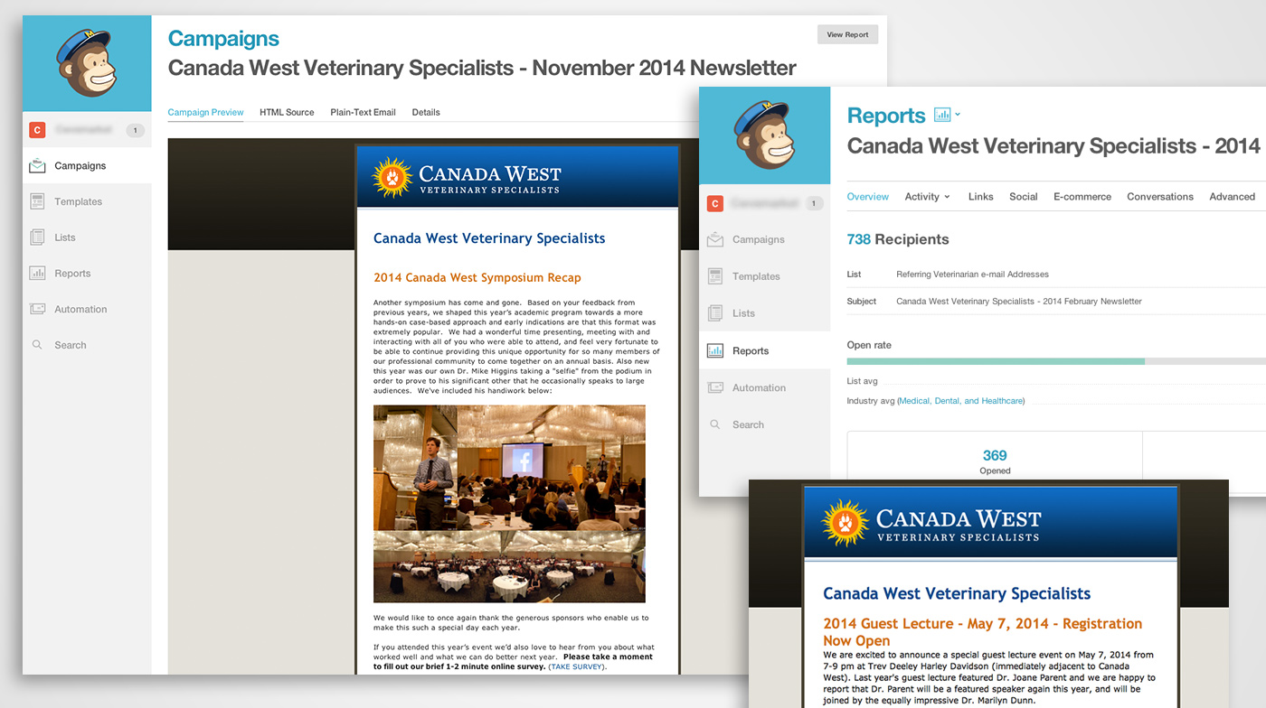 Canada West Vets E-Newsletters